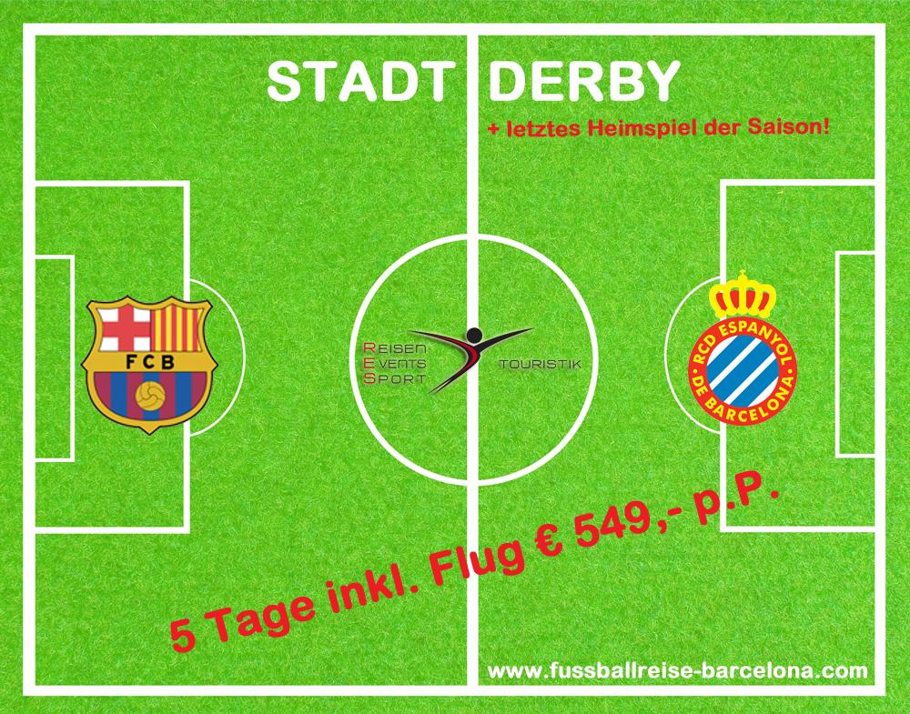 Fussballreise nach Barcelona: Stadtderby FC Barcelona vs Espanyol Barcelona